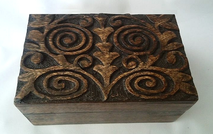 Spiral Tree Of Life Wooden Box 4x6 Na M46a 1595 Wiccan