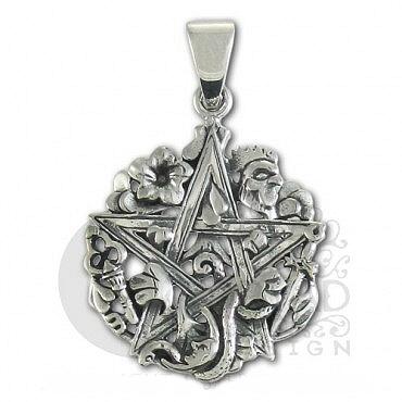 Sterling silver cimaruta pentacle pendant dd tpd 1219 4295 sterling silver cimaruta pentacle pendant aloadofball Images